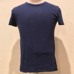 American Eagle Solid Dark Blue Mens XS Basic Shirt